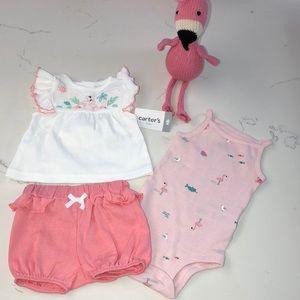 NWT 3 Piece Flamingo Set | Newborn